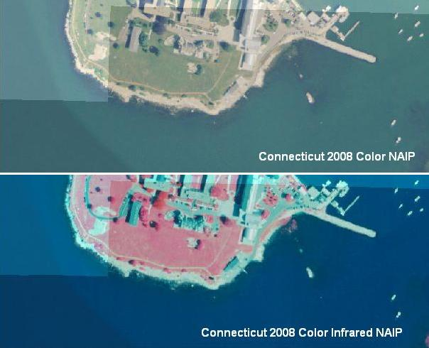 Example of 2008 NAIP Color and Color Infrared Orthophotography