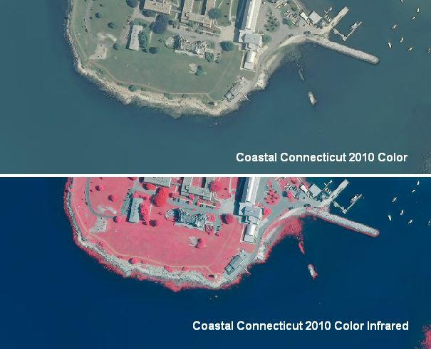Example of 2010 Coastal Color and Color Infrared Orthophotography