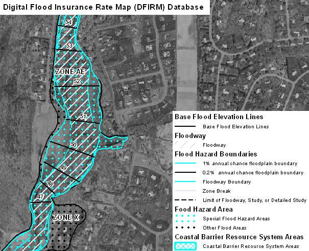 Digital Flood Insurance Map (DFIRM) Database for Connecticut - Flood on